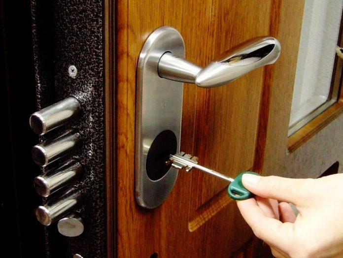 How to open a locked bathroom door without a key?